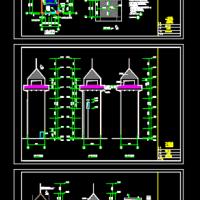 6层框架结构消防训练塔建筑设计图