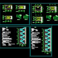 两套钢结构消防训练塔建筑设计图