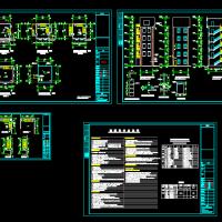 某地6层框架消防训练塔建筑设计施工图