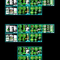 八层框架结构消防训练塔结构设计图