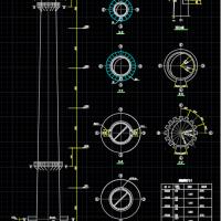 60m砖混烟囱全套设计图