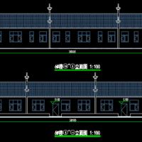 山东一层框架徽派老年公寓建结水电暖设计施工图纸