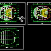 椭圆形剧场报告厅建筑方案图