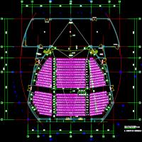 椭圆形剧场式报告厅建筑图