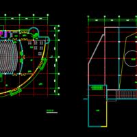 某小型剧场平面图设计方案图