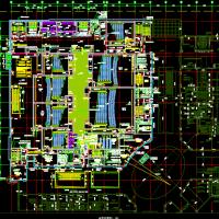 万达四层购物商场及电影院建筑施工图纸