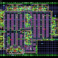 某地地下两层车库建筑设计图(含自行车坡道)