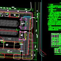 汽车客运站建筑水电规划设计总平面图
