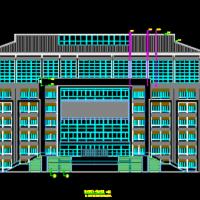 六层框架结构大学图书馆设计图纸(建结水电暖)