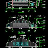 养鸡厂鸡舍建筑及结构设计图纸