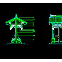 仿古垂花门楼立面方案图