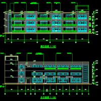 杭州某地3006平米三层九班幼儿园建筑图