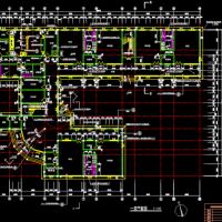 弧形入口三层九班幼儿园建筑设计图