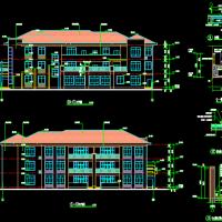 湖南三层六班幼儿园建筑施工图纸