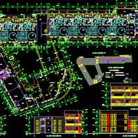 某四层18班幼儿园建筑设计cad施工图(含效果)