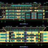 四层12班现代风格幼儿园建筑施工图