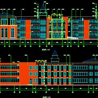 山东11班幼儿园建筑电气暖通设计图(空气源热泵采暖)