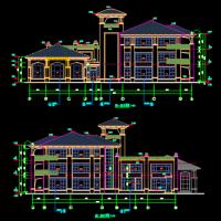 南方三层12班坡屋顶幼儿园建筑结构水施工图