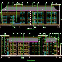 北方某三层九班幼儿园建筑结构设计图(含水电暖)