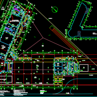 广东四层框架结构长条式18班幼儿园建筑施工图