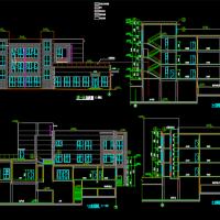 大连三层10班幼儿园全套施工图纸(建筑结构水电暖)