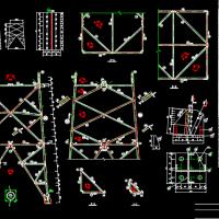 送电线路铁塔的设计结构图