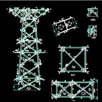 110JGu2双回路60度铁塔全套结构图