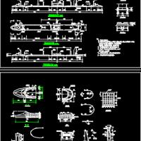 收费岛施工图CAD图纸