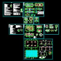 加油站全套建筑设计图(包括站房、罩棚、罐池、厕所