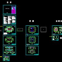 某加油站建筑结构水电效果全套图