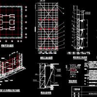 高层塔楼电动自生爬架施工方案图(爬架、悬挑、防护、支模)