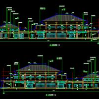 某火葬场殡仪馆悼念厅及车间建筑设计施工图