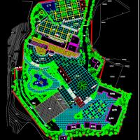 某殡仪馆规划方案及办公楼平面方案图