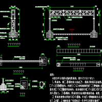 4种尺寸限高门架建筑构造详细设计图