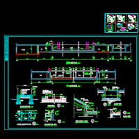 某游泳池节点建筑的全套设计施工图
