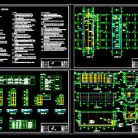 单层框架结构水泵房建筑设计施工图