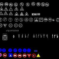 停车场图例和路口标志