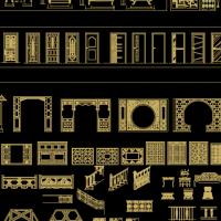 中式门套线CAD图库