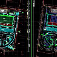 某办公楼前广场海绵城市场面设计图