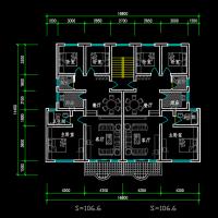 120-150平米多层住宅楼户型图