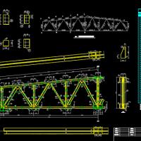 18m梯形钢屋架课程设计图纸