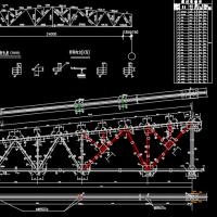 33m30m27m钢屋架课程设计图