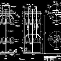 300立方IC厌氧反应器工艺图(反应罐加工图纸)