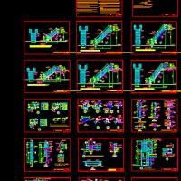 钢楼梯及平台栏杆CAD图集
