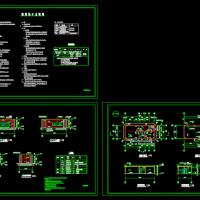 一层变电间管理房全套施工图纸(建筑结构水图)