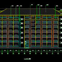 南方某中学七层框架结构宿舍楼建筑图