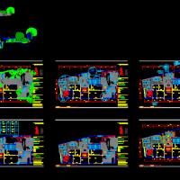 某大型别墅室外花园平面设计图