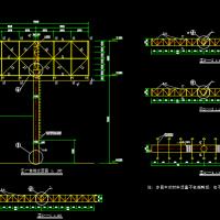 某地钢结构双面体单立柱广告牌设计图
