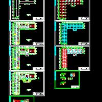 六层6000平米框架结构办公楼建筑及结构课设图