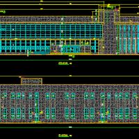 某地两层钢结构售楼部建筑设计图纸